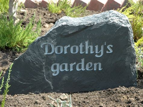 Memorial Rocks For Garden Slate Headstone Memorials Great For Gardens And Churches Uk