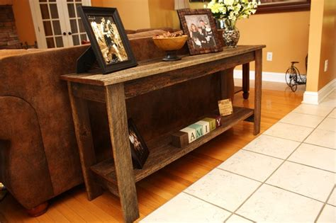 wood couch table reclaimed oak sofa table rustic console tables