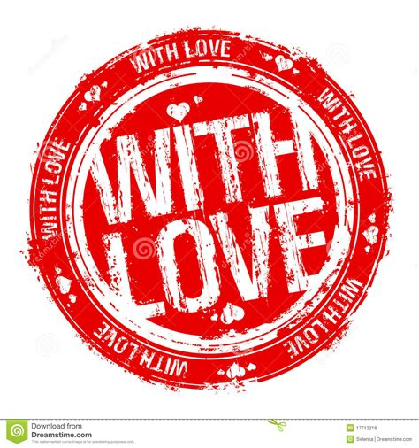 with love stamp stock vector image of romantic