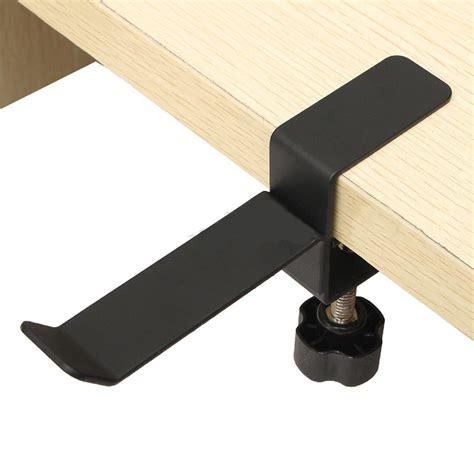 Monitor Desk Clamp Steel Headset Headphone Earphone Holder Hanger Stand Table