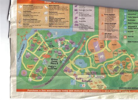columbus zoo map zoo tails columbus zoo map from 2000