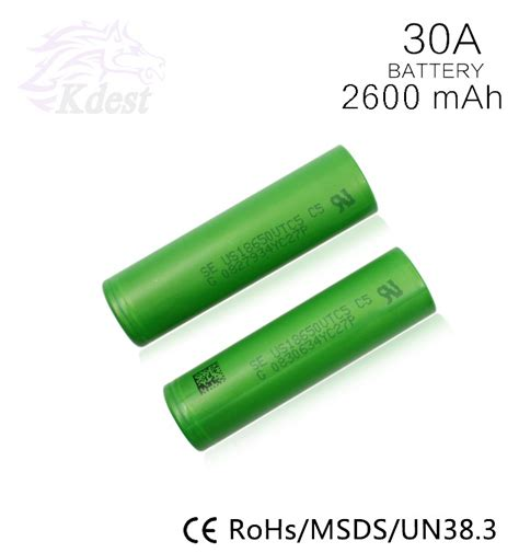 Sony Vtc6 18650 Lithium Ion Cylindrical Battery 3 7v 3000mah factory price for sony vtc5 2600mah 30a vs for sony vtc6 18650 rechargeable li ion battery for e