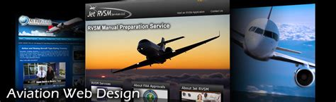 Aviation Website Design Pilot Flight Schools Private Aircraft Charters Aircraft Brokers Rvsm Manual Template