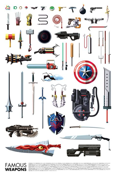 Home Design Story Jeux by An Illustrated Guide To Famous Pop Culture Weapons