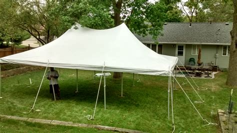 Tent For Backyard by Backyard With A 20 X 30 Rope And Pole Tent In Iowa