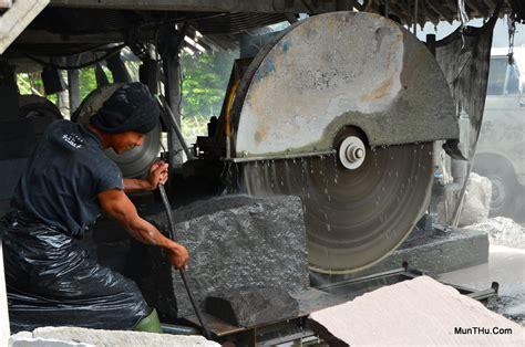 Gergaji Mesin Besar ubin tegel batu candi pemotongan batu alam merapi