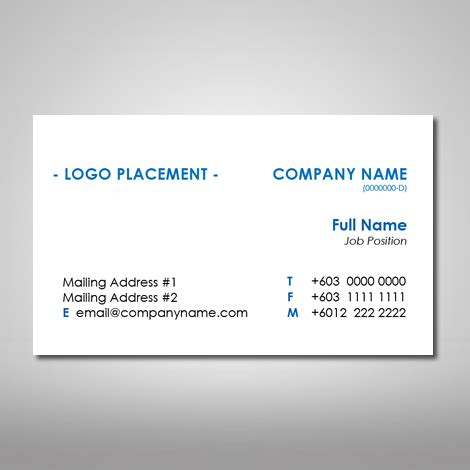 Name Card Design Template Malaysia by Generic Business Card Template Archives Cheap Name Card
