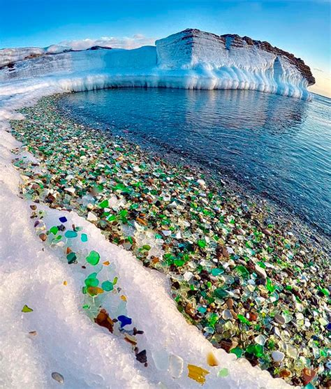 russian beaches russians throw away empty vodka and beer bottles ocean