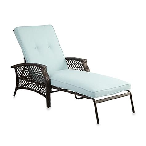 chaise lounge mall buy stratford wicker padded chaise lounge in mist from bed