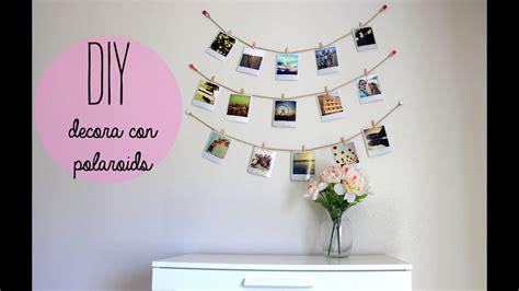 decorar cuarto con fotos diy decora tu cuarto con polaroids estilo tumblr youtube
