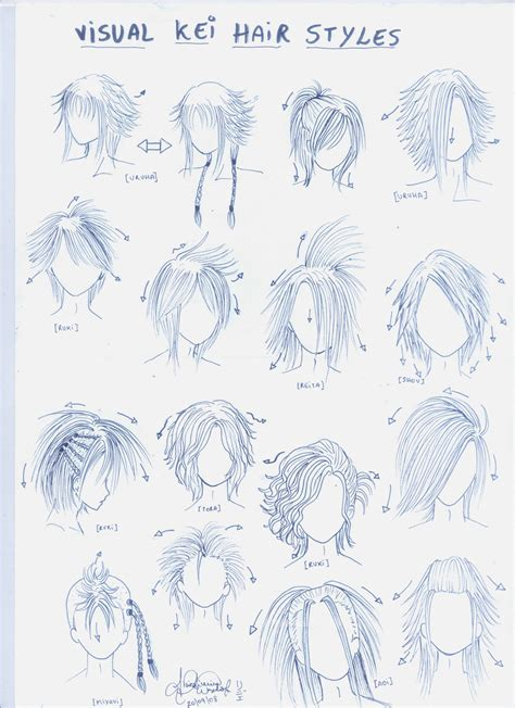 Visual Kei Hairstyles by Visual Kei Hair Styles By Genshiken Rj On Deviantart