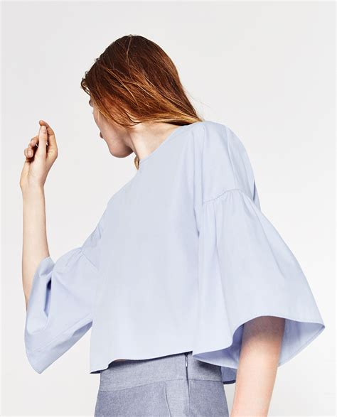 Frilled Sleeve Blouse frilled sleeve top blouses tops zara united