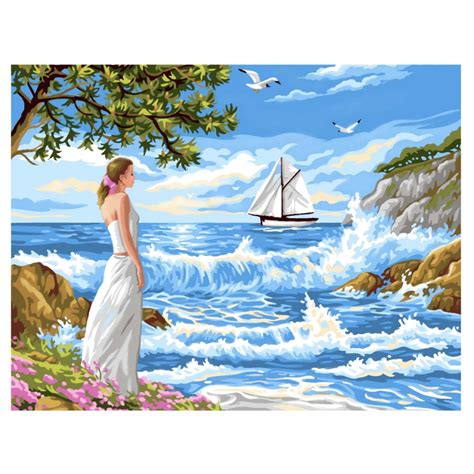 whispering shores large painting by numbers ksg from craftyarts co uk uk