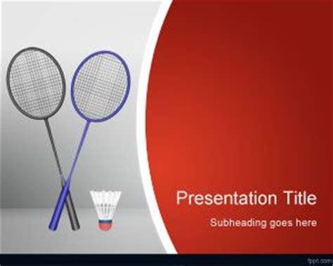 Badminton Powerpoint Template Badminton Ppt Templates Free
