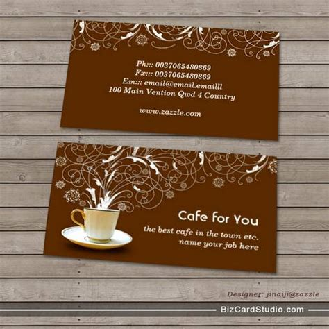 The Gift Card Cafe - cafe business card