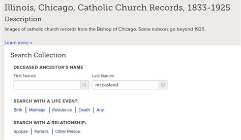 Chicago Records Genealogy An Incomplete Transcription And An Incomplete Index Rootdig