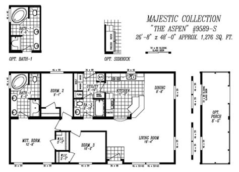 28x48 floor plans floor plans majestic heritage home center