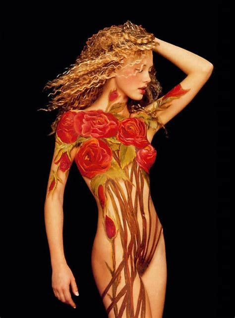 gorgeous painting joanne gair 13 beautiful wearing nothing but paint from