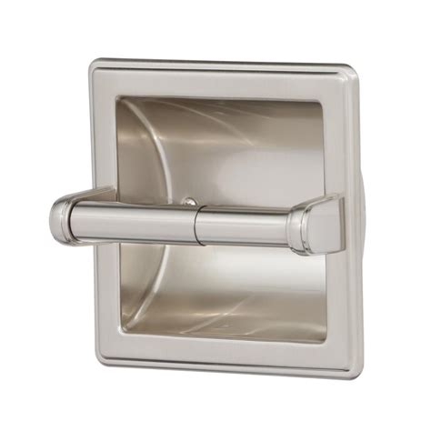 where to put toilet paper holder in small bathroom franklin brass recessed toilet paper holder with beveled