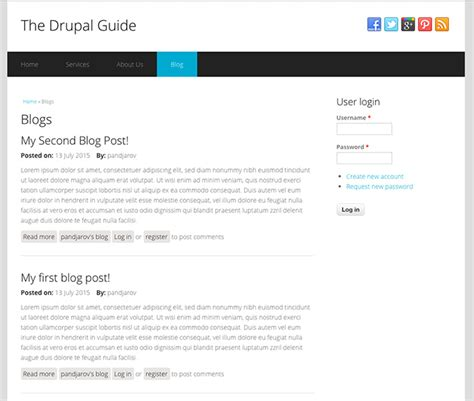tutorial adding configuring and using the drupal blog how to add a blog to drupal