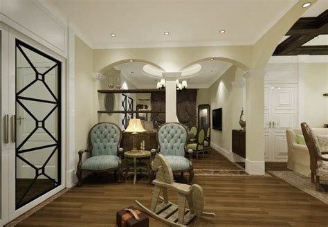 home interior design usa arches partition study and living room interior design