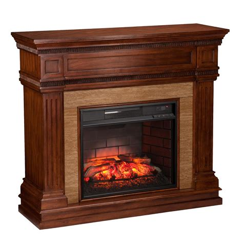 Electric Fireplace Cherry by Pleasant Hearth 31 In Mobile Electric Fireplace