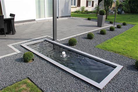Wasserbecken Terrasse by Architektonische Wasserbecken Im Garten Und Auf Der