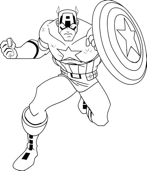 superhero marvel captain america coloring pages