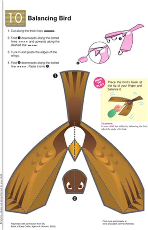 balancing bird template balancing bird learning about gravity worksheet