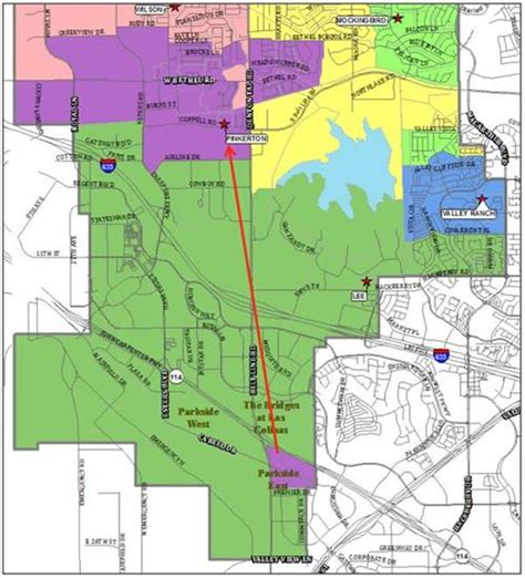 coppell texas map about coppell isd attendance zone