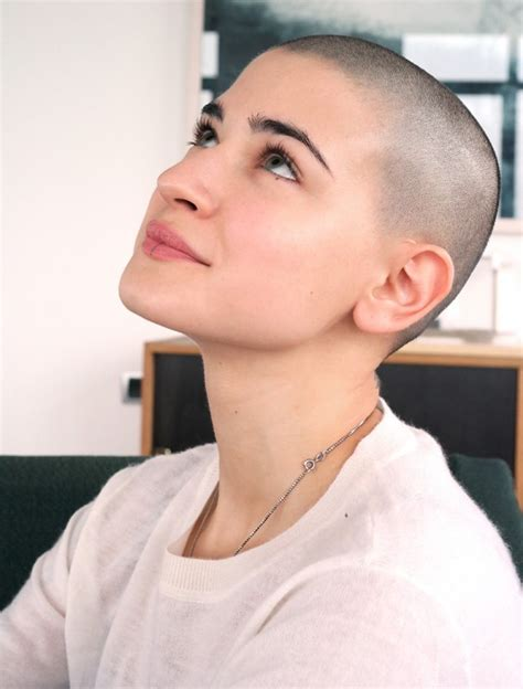 bald women head shave haircuts very pretty femininebuzz hairstyles pinterest