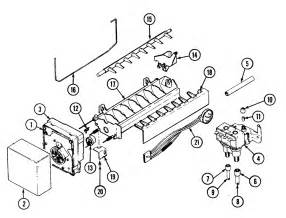 maker diagram parts list for model rsw24e0dae maytag parts refrigerator parts