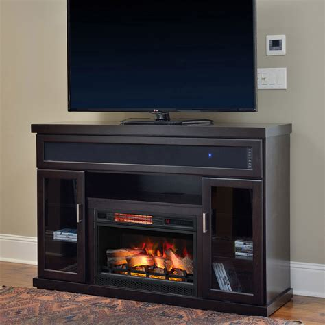 Entertainment Center With Electric Fireplace Tenor Infrared Electric Fireplace Entertainment Center In Espresso 26mms9726 E451