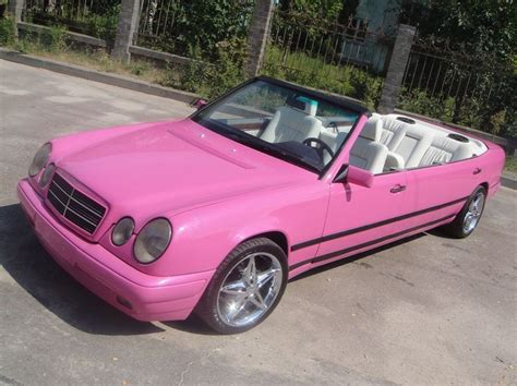 pink convertible cars pink mercedes benz e class convertible limo will sicken