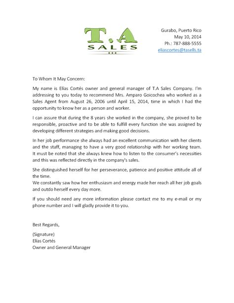 collection of solutions template employee reference letter in