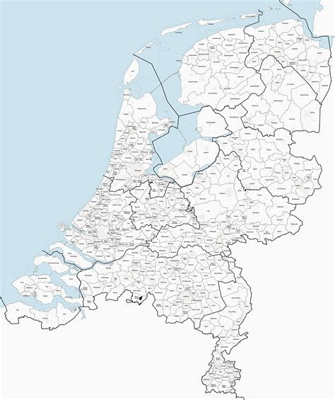 netherlands municipalities map map of the netherlands after proposed municipal maps