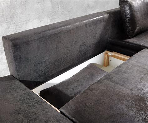 sofa variabel eckcouch abilene anthrazit 260x175 cm schlaffunktion