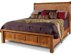 lewiston king sleigh bed w low footboard by daniel s amish