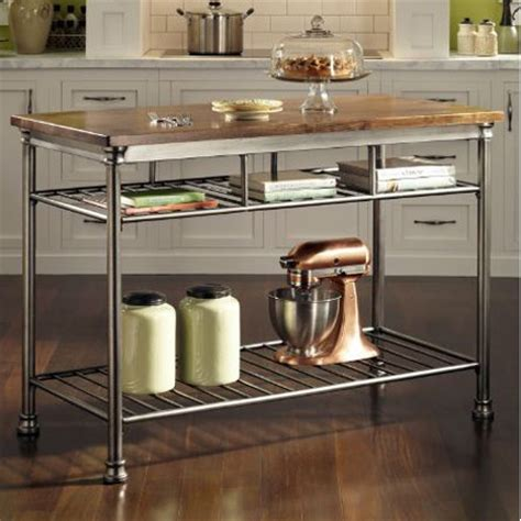 islands in small kitchens inox small kitchen island decozilla