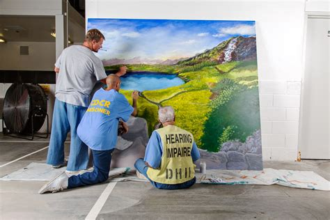 How To Paint A Wall Mural arts in corrections california s creative response to a