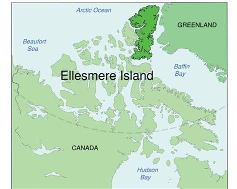map of canada with islands ellesmere island ayles shelf