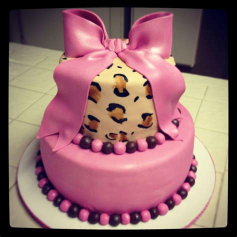 Pink Leopard Baby Shower Theme by Pink Leopard Baby Shower Cake Cakecentral