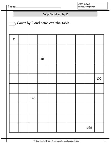 printable worksheets counting by 2 5 10 math worksheets skip counting by 2s by 2 skip counting