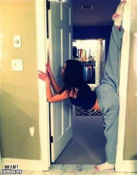 i remember these we graduated to doorframe stretches for
