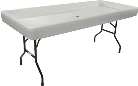 Fill N Chill Table by Cooler 6 Foot Fill N Chill Table Black Rentals St Paul Mn