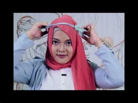 tutorial hijab pashmina dengan headband video tutorial hijab pashmina panjang dengan headband