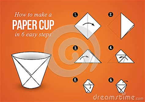How To Make Paper Cups - paper cup origami make your own cup stock