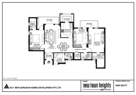 dlf new town heights floor plan dlf new town heights gurgaon projects property in gurgaon