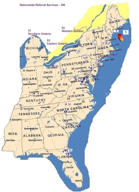 map of the northeast usa maps us map eastern