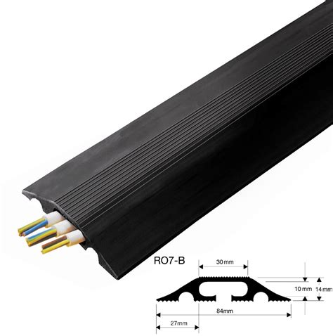 Floor Cable Protector by Value Black Floor Cable Tidy Protector Cover For